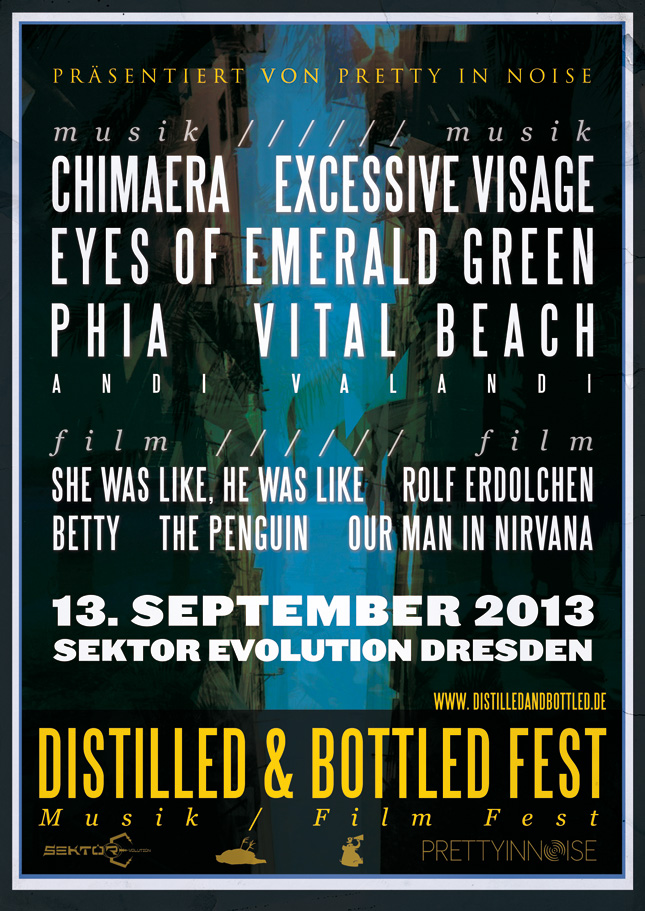 ditilled and bottled plakat