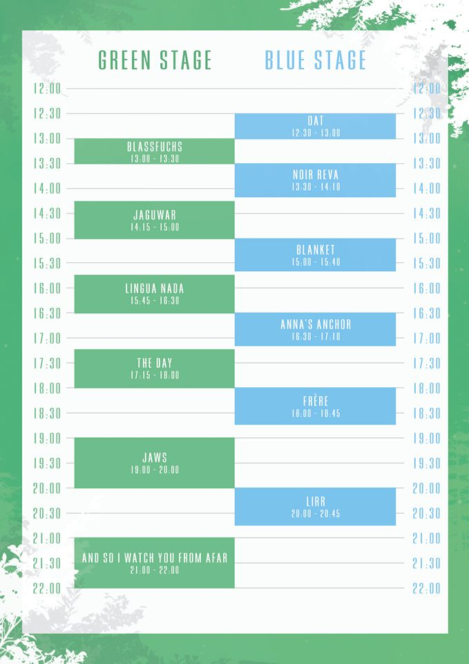 Timetable Wintergrün Fest