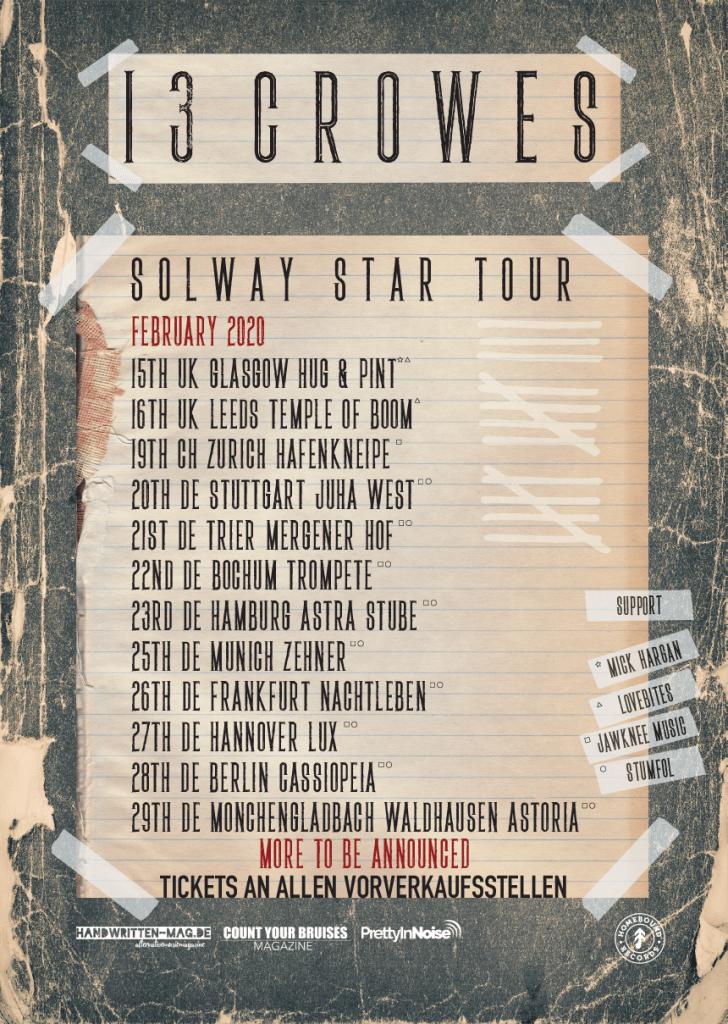 13 Crowes Tour 2020